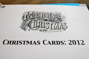 Christmas Card Organization